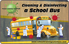 Cleaning and Disinfectiong a School Bus Infographic