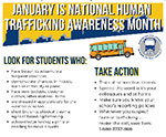 January is National Human Trafficking Awareness Month