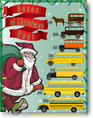 Buses of Christmas Past - Infographic