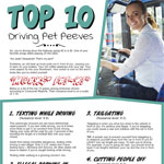 Top 10 Driving Pet Peeves
